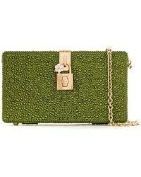1842cf3d8674 Dolce & Gabbana - Клатч Dolce Box С Кристаллами - Lyst