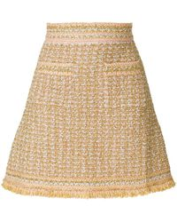 M Missoni - Embroidered Fitted Skirt - Lyst