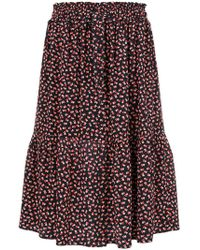 Chinti & Parker - Love Heart Print Skirt - Lyst