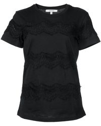 Dorothee Schumacher - Lace Embroidered T-shirt - Lyst