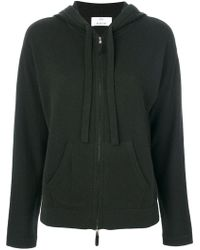 Allude - Zipped Knit Hoodie - Lyst