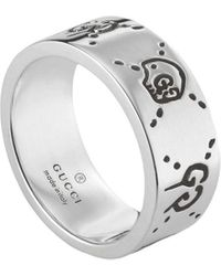 Gucci - Ghost Ring In Silver - Lyst
