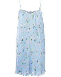 Vivetta - Floral Print Pleated Dress - Lyst