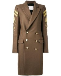 A.F.Vandevorst - Double Breasted Military Coat - Lyst
