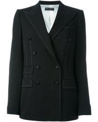 Dolce & Gabbana - Double Breasted Blazer - Lyst