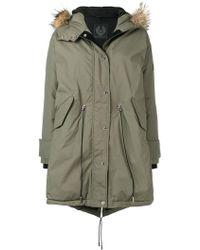 Belstaff - Fur Hood Parka Coat - Lyst