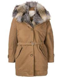 Ermanno Scervino - Belted Fur Coat - Lyst