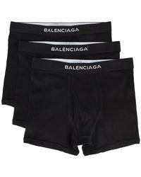 Balenciaga - Set de trois caleçons à logo - Lyst