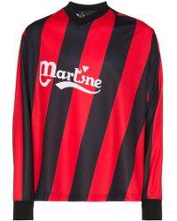 Martine Rose - Asymmetric Stripe Twisted Logo Football Top - Lyst