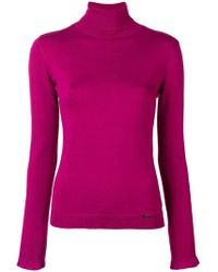 Liu Jo - Turtle-neck Fitted Top - Lyst