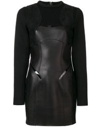 DSquared² - Panelled Long Sleeve Dress - Lyst