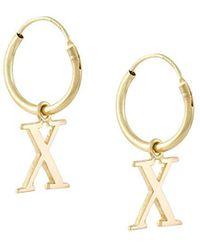 Wouters & Hendrix - 18kt Yellow Gold 'x' Earrings - Lyst