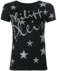 Philipp Plein - Star Logo Script T-shirt - Lyst