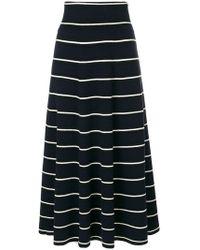 Chinti & Parker - Multi-stripe Flared Skirt - Lyst