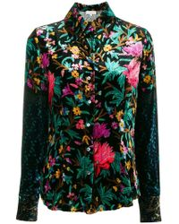 Pierre Louis Mascia - Floral Embroidered Shirt - Lyst
