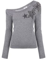 Liu Jo - Star Embellished Jumper - Lyst