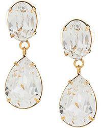 Jennifer Behr - Diamond Drop Earrings - Lyst