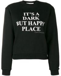 Victoria, Victoria Beckham - Slogan Print Sweatshirt - Lyst