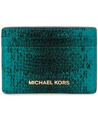 MICHAEL Michael Kors - Snake-embossed Card Holder - Lyst