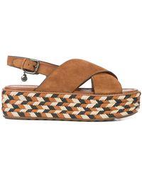 COACH - Flatform Sandal In Brown - Lyst