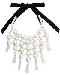 Moy Paris - Embellished Tassel Bib Necklace - Lyst