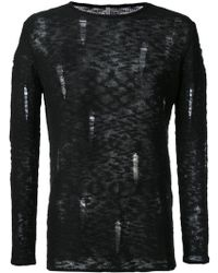 First Aid To The Injured - Mastoid Knitted Top - Lyst
