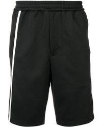 Helmut Lang - Pantalones cortos de chándal con raya lateral - Lyst