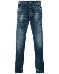 John Richmond - Printed Straight-leg Jeans - Lyst