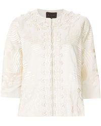Biyan - Embroidered Short Jacket - Lyst
