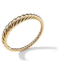 David Yurman - Pure Form Cable Bracelet In 18k Yellow Gold - Lyst