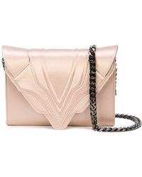 Elena Ghisellini - Metallic Clutch Bag - Lyst
