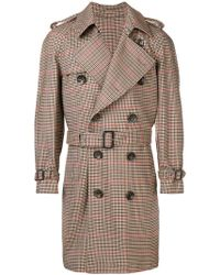 Gabriele Pasini - Double Breasted Trench Coat - Lyst