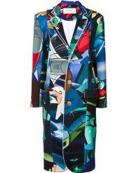 Julien David - Multi-print Buttoned Coat - Lyst