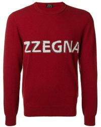 Z Zegna - Logo Fine Knit Sweater - Lyst