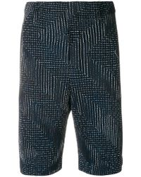 Homme Plissé Issey Miyake - Pleated Embroidered Shorts - Lyst