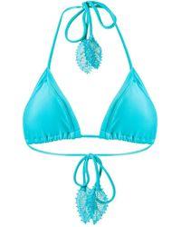 Martha Medeiros - Triangle Bikini Top - Lyst