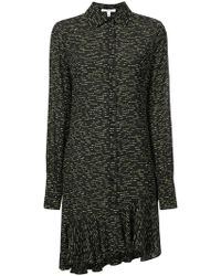10 Crosby Derek Lam - Long Sleeve Shirtdress With Asymmetrical Hem - Lyst