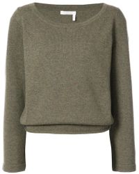 Chloé - Cashmere Wide Neck Sweater - Lyst
