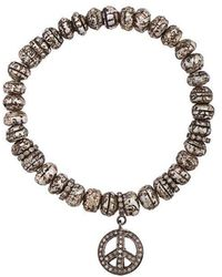 Loree Rodkin - Peace Charm Bracelet - Lyst