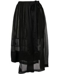 Forte Forte - Asymmetric Sheer Skirt - Lyst