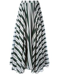 MSGM | Striped A-line Maxi Skirt | Lyst