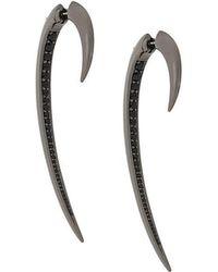 Shaun Leane - Black Spinel Large Hook Earrings - Lyst