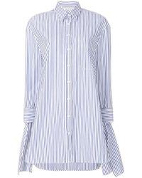 Neil Barrett - Striped Poplin Shirt - Lyst