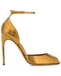 Brian Atwood - Snakeskin-effect Sandals - Lyst
