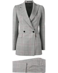 Tagliatore - Classic Checked Two-piece Suit - Lyst