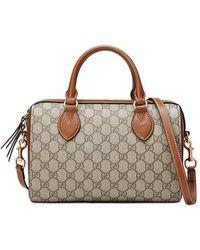 Gucci - Brown GG Boston Tote Bag - Lyst