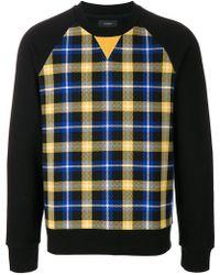 JOSEPH - Checked Print Sweatshirt - Lyst