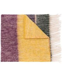PS by Paul Smith - Colour-block Fringed Scarf - Lyst