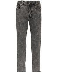 Ksubi - Grey Acid Wash Slim Jeans - Lyst