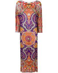 Etro - Paisley Print Maxi Dress - Lyst